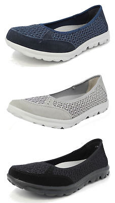 Womens Arch Support Lightweight Leather Mesh Shoes Pumps Memory Foam Size 3-9 • 22.99£