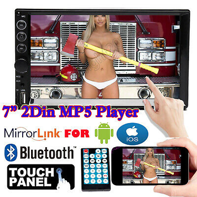 AU62.79 • Buy 7''in Double DIN Car Stereo MP5 Head Unit Radio Mirror Link For GPS Navi Android