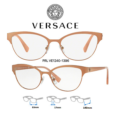 8bf172e3f024 Versace VE1240 1396 Eyeglass Frames Rose Gold Size 53mm 100% Authentic •  94.99