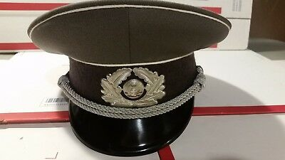 b400f10371a East German Army DDR NVA Voiksarmee Officer Visor Cap Hat Size 56 • 34.95