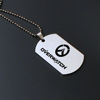 AU9.99 • Buy Stainless Steel Overwatch Dog Tag Pendant PS4 XBOX One PC Logo Fortnite