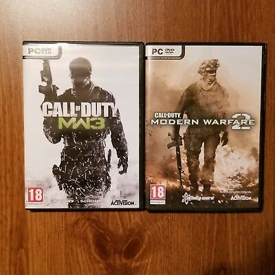 Lot Pc Game Call Of Duty Modern Warfare 2 And 3 Brand New • 13.54£