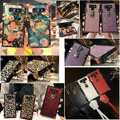 $ CDN13.85 • Buy Luxury Bling Diamond Glitter Leopard Square For Galaxy S9/S8//Note9 Case Cover