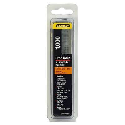 STANLEY 15mm 5/8  Brad Nails Pack Of 1000 Fits Most 18 Gauge Nail STA0SWKBN0625 • 4.99£