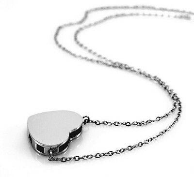 AU25 • Buy Aromatherapy Diffuser Essential Oil Locket Pendant Necklace - Silver Heart