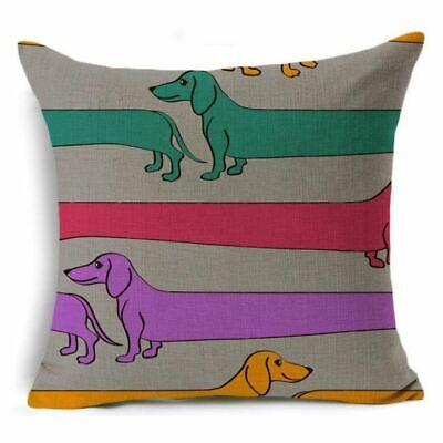 Dachsund Gifts Cushion Cover Gift Sausage Dog Many Funky Designs • 7.49£
