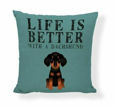 £7.99 • Buy Dachshund Gifts Cushion Cover Gift Sausage Dog Many Funky Designs