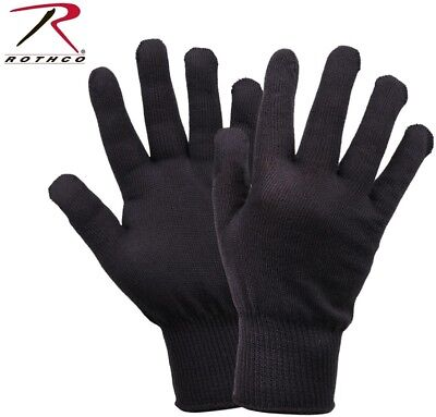 $8.48 • Buy Black Winter Military Issue Polypropylene Winter Glove Liners Rothco 8413