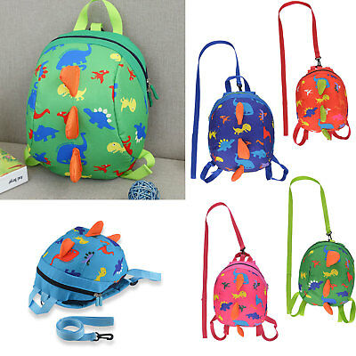 Cartoon Toddler Dinosaur Safety Harness Strap Bag Backpack With Reins For Kids • 6.99£
