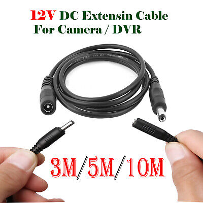 3M 5M 10M Meter 12V DC Extension Cable Wire CCTV Security Cameras/DVR Lead • 6.75£