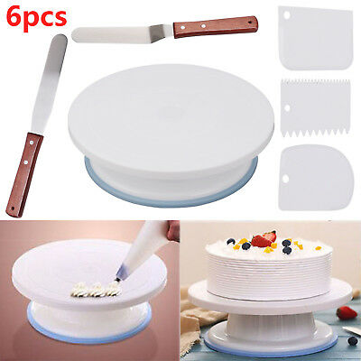 28cm Kitchen Cake Decorating Icing Rotating Revolving Turntable Display Stand • 7.29£