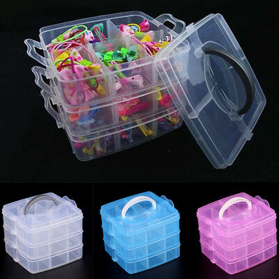 18 Compartment Plastic Clear Jewelry Bead Organizer Box Storage Container   • 6.79£