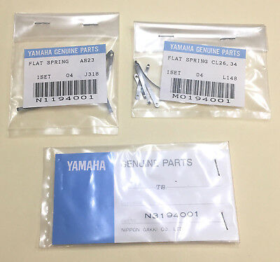 Genuine Yamaha Flat Spring Sets - Various For Bb Clarinet, Alto And Tenor Sax • 14.99£