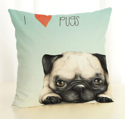 Pug Gifts Cushion Cover Or Cosmetic Bag Or Tote Bag Gift Many Fun Designs • 7.99£