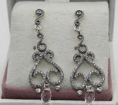 AUTHENTIC PANDORA Chandelier Droplets Drop Earrings 297088CZ  #1421 • 32.53£