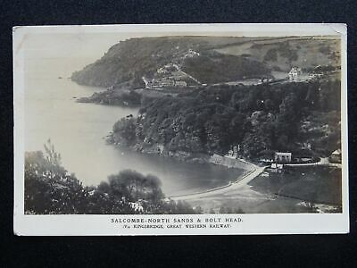 G.W.R. Official Great Western Railway SALCOMBE NORTH SANDS C1913 RP Postcard • 9£