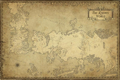 £8.49 • Buy Game Of Thrones  ( 11  X 17  ) Map Collector's Poster Print - B2G1F