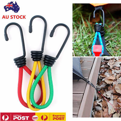 AU15.99 • Buy 10PCS Antislip Stretch Latex Tent Peg Hook Camping Accessories Rope Outdoor 6in