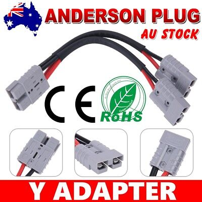 AU24.95 • Buy 50 Amp Anderson Plug Connector Automotive 6mm Cable Double Extension Y Adaptor