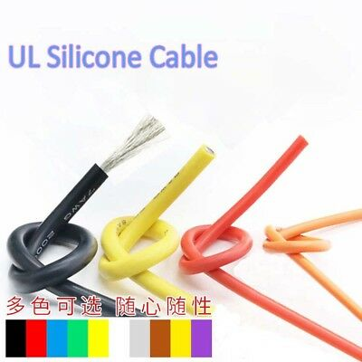 £1.32 • Buy UL Silicone 20AWG 0.08MM Stranded Copper Core Flexible Wire RC Electronic Cable