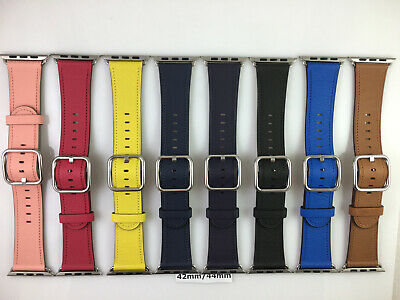 AU198.96 • Buy Original Genuine Apple Watch Silver/Gold Classic Buckle Leather Band 42mm 44MM