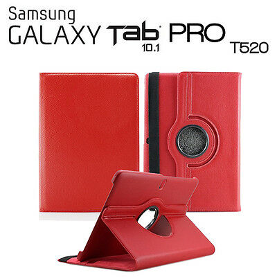 AU35.04 • Buy Cover For Tablet Samsung Galaxy Tab Pro 10.1 T520 Swivel Red