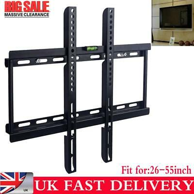 Universal  Tv Wall Bracket Mount 26-55 55 Inch Monitor Holder Uk Stock • 6.99£