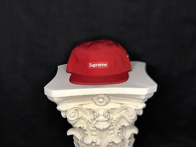 $ CDN119.99 • Buy Supreme Rubber Logo Red SS13 Camp Cap 5 Panel Box Logo 100% Authentic