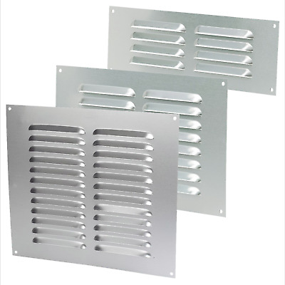 SAA Wall Mount Air Vent Louvre 3  6  9  Metal Ventilation Grille Duct Fly Cover • 3.59£