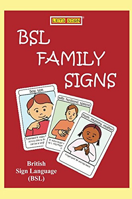£8.10 • Buy BSL FAMILY Signs: British Sign Language In FLASHCARD Format LET'S SIGN BSL