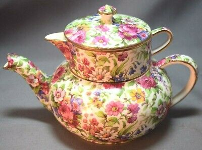 $ CDN348.47 • Buy FABULOUS Royal Winton England  Grimwades Chintz Summertime Stacking Teapot!