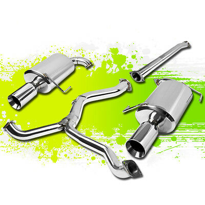 $288 • Buy For 05-09 Legacy Turbo Dual Muffler 4 Tip Stainless Steel Catback Exhaust System