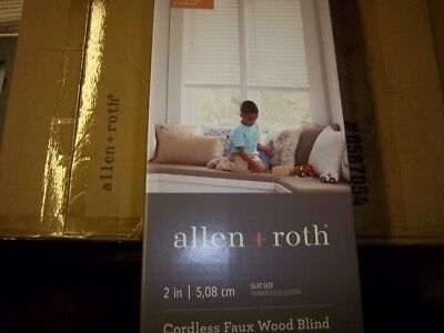 $ CDN85.55 • Buy  NEW Allen & Roth 2  Cordless White Faux Wood Blinds 52X64 0762322 FREE SHIPPING