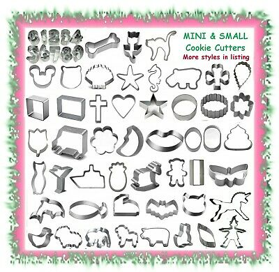 AU3.49 • Buy Various Cookie Cutters - Mini Small Medium & Large Styles - Cake Cupcake Fondant