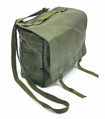 $10 • Buy Czech Army Military Shoulder Bag Rubberized Pack Surplus Od Green Pouch Backpack