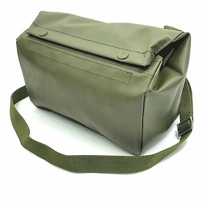 Swiss Army Military Shoulder Bag Rubberized Pack Surplus Od Green Pouch Backpack • 7.15£