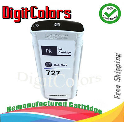 $41 • Buy 130ml Remanufactured HP 727 Photo Black B3P23A HP T2500 Printer