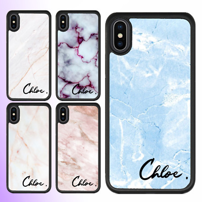 AU11.99 • Buy IPhone 11 Pro Max SE 2020 XS XR X Shockproof Case Cover Marble Personalised Name
