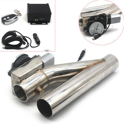 $ CDN166.95 • Buy Universal 2  Electric Exhaust Downpipe Cutout E-Cut Out Dual-Valve Remote Steel