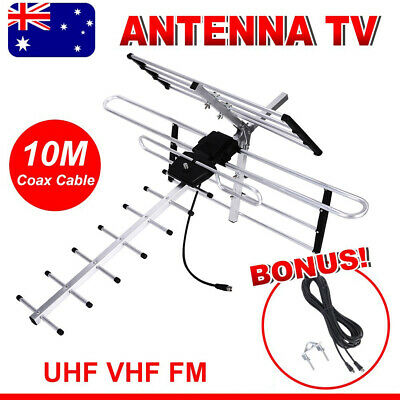 AU32.85 • Buy Digital TV Outdoor Antenna Aerial UHF VHF FM 4 AUSTRALIAN Conditions Country