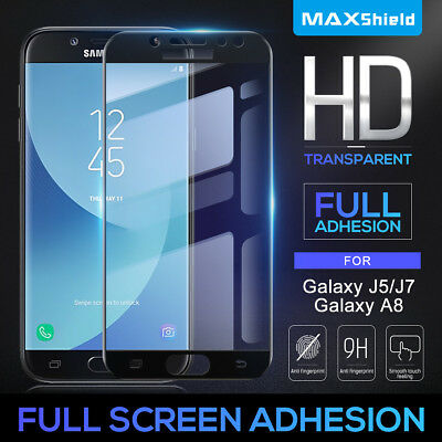 AU7.99 • Buy Samsung Galaxy J2 J5 J7 Pro J7 Prime A8 Full Tempered Glass Screen Protector