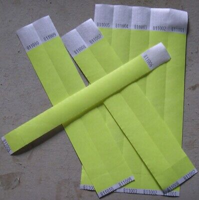 £3 • Buy Plain 1   25mm PARTY Tyvek Paper Wristbands. Ideal For Parties, Festivals Events
