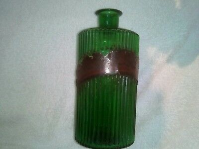 Antique Chemist Apothecary Pharmacy Green Glass Poison Bottle Tr Gelsem • 20£