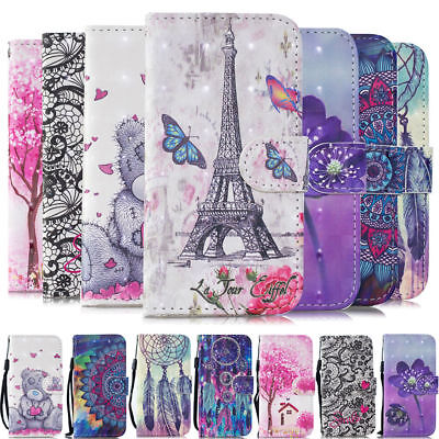 $ CDN6.83 • Buy For Samsung Galaxy A7 A8 2018 S9 S20 FE Patterned Case Flip Leather Wallet Cover
