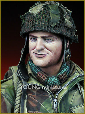 Young Miniatures British Paratrooper WW2 Arnhem 1/10th Bust YM1834 Unpainted Kit • 39.99£