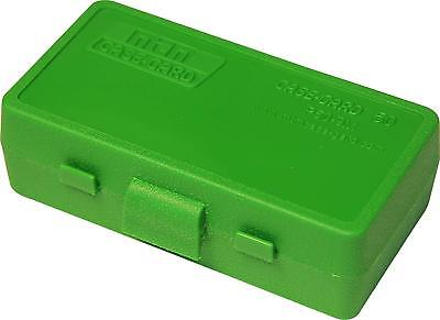 AU7.87 • Buy MTM PLASTIC AMMO BOX, GREEN 50 Round 9mm / 380 - BUY 5 GET 1 FREE