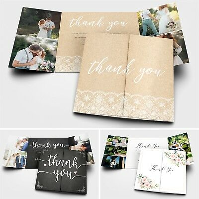 £25 • Buy Personalised Wedding Thank You Cards With Photo + Envelopes