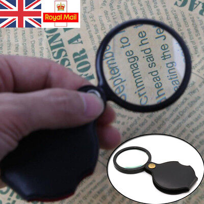 Folding Magnifier Glass Pocket Small Size Optical Magnifying Lens Eye Loupe 5X • 2.83£
