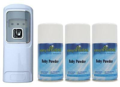 £19.99 • Buy EXEC LED Automatic Air Freshener Dispenser + 3 BABY POWDER Auto Wall Mounted