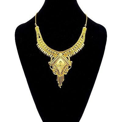 $8.11 • Buy Fashion Indian 22K Gold Plated Bollywood Necklace Wedding Jewelry Set